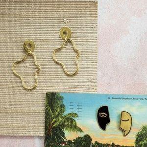 Doodle Gold Earrings